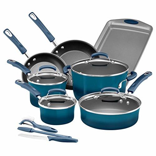 Rachael Ray 14pc hard enamel nonstick Cookware set