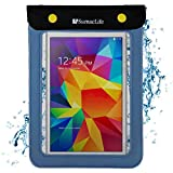 Universal Tablet Waterproof Case Dry Bag for Barnes & Noble Nook GlowLight Plus | Samsung Galaxy Tab A Nook 7' | Nook GlowLight 3 | Tablets and eReaders up to 8.5in (Blue)