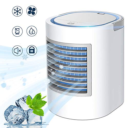Portable Air Conditioner, Personal Mini Air Cooler, Quiet USB Desk...