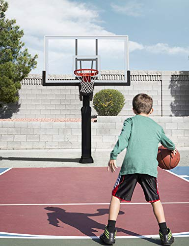 katop In-Ground Basketball Hoop,Adjustable Basketball Goal Hoop with...