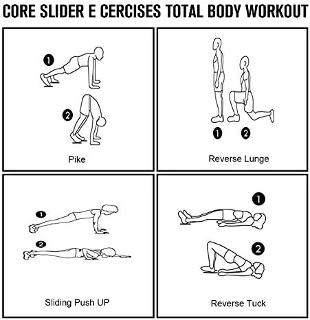 【2020 Update】 Core Exercise Sliders (Set of 2), Smooth Gliders Dual-Sided Design, Use on Hardwood Floors, Workout Sliders Fitness Discs Abdominal & Total Body Gym-Exercise Equipment for Home, Travel… 8