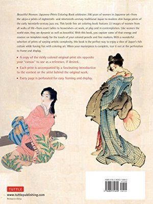 Beautiful Women Japanese Prints Coloring Book: Women's Fashion and Lifestyle in Japanese Art