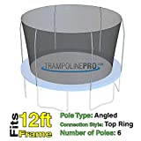 Trampoline Replacement Nets for Top Ring Models   Sizes 12 ft - 14 ft - 15 ft   Net Only   Poles Not Included   Top Ring Not Included (12 ft Net for 6 Pole Top Ring)