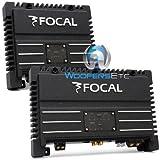 pkg Focal Solid-1 + Solid-2 = 3-Channel 700 Watt Amplifier Package Black Car Audio Amps