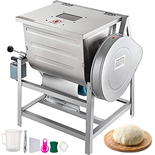 VEVOR-110V-Commercial-Dough-Mixer-25kg-Kneading-Capacity-50-QT-Flour-Mixer-2200W-with-Visible-Lid-Heavy-Duty-Pizza-Dough-Mixer-304-Stainless-Steel-Professional-Kitchen-Equipment