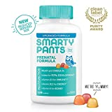 SmartyPants Prenatal Formula Daily Gummy Vitamins: Gluten Free, Multivitamin, Folate (Methylfolate), Omega 3 (Dha/Epa) Fish Oil, Methyl B12, vitamin D3 (30 Day Supply) - Packaging May Vary
