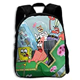 CHLING Kids Backpack Spongebob Squarepants with Friends Print Childrens School Bag Teenager Bookbag for Boys Girls