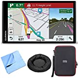 Garmin RV 770 NA LMT-S RV GPS Navigator for Camping w/ Dash Mount + Case Bundle includes Nav-Mat Portable GPS Dash Mount, PocketPro XL Hardshell Case and Cleaning Cloth