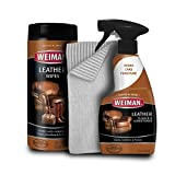 Weiman Leather Cleaner Kit - Non Toxic Restores Leather Surfaces - UV Protectants Help Prevent Cracking or Fading of Leather Furniture, Car Seats, Shoes