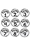 elope Dr. Seuss Thing 1-9 Printed Patches Set