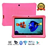 [Upgraded] Contixo K1 HD 7' Kids Tablet with Durable Protection Case, Pre-Installed Games Android 6.0 Bluetooth WiFi Dual Cameras Parental Control for Children Pink