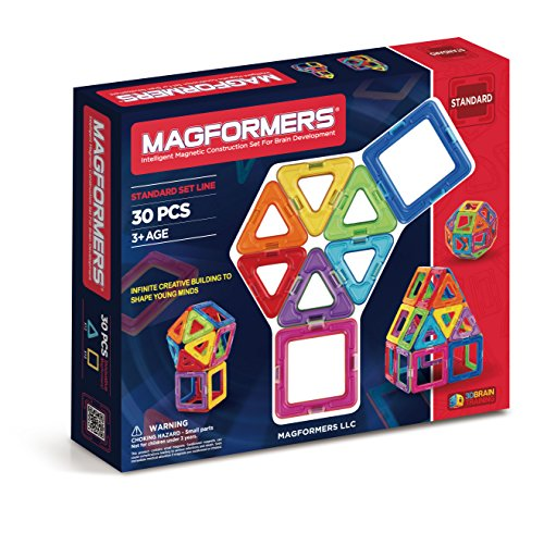 Magformers Basic Set (30 pieces) magnetic building blocks