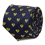 DC Comics Superman Shield Navy Tie, Officially Licensed