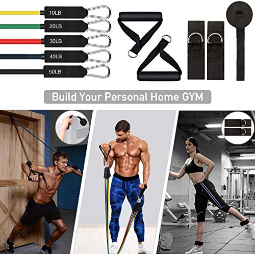 JawaMax-Resistance-Bands-Set-16-Pcs-Exercise-Bands-Workout-Bands-with-Handles-for-Working-Out-Portable-Home-Gym-Accessories-Perfect-Muscle-Builder-for-Arms-Back-Leg-Chest-Belly-Glutes