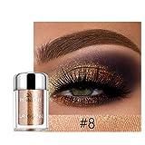 FeiFei66 Glitter Metallic Shimmer Glitter Liquid Eyeshadow, Long Lasting Waterproof Shimmer Sparkling Eyeliner Eye Shadow (H)