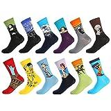 Bonangel Men's Fun Dress Socks-Colorful Funny Novelty Crew Socks Pack,Art Socks
