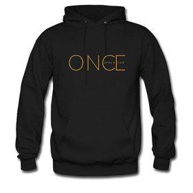 Custom Unisex Once Upon A Time Hoodie Men's and Women's Hoodie Sweatshirt US XL Black