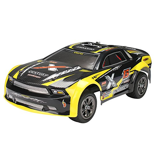 1:12 Scale Fast RC Car Off Road Vehicle High Speed Cars 50km/h Remote Control Fast Race Cars 2.4GHz Electric Car Monster Truck 9118 Yellow