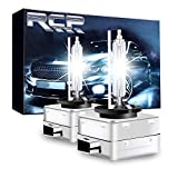 RCP - D1S6 - (A Pair) D1S/ D1R 6000K Xenon HID Replacement Bulb Diamond White Metal Stents Base 12V Car Headlight Lamps Head Lights 35W