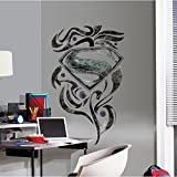 RoomMates RMK2263SLM Superman Man Of Steel Stylized Logo Peel and Stick Giant Wall Decals