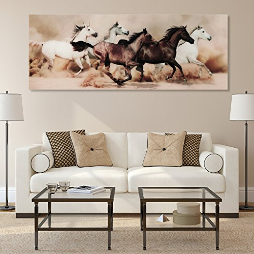 Wild Horses Tempered Glass Wall Art