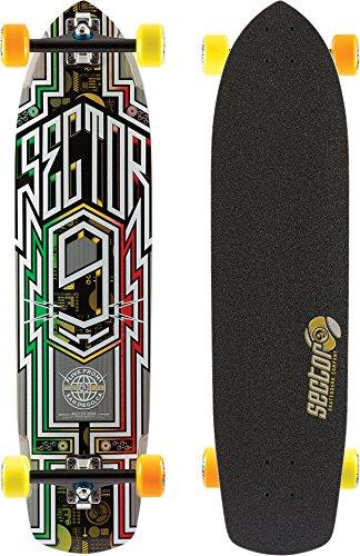 Sector 9 Carbon Flight Complete Skateboard, Rasta