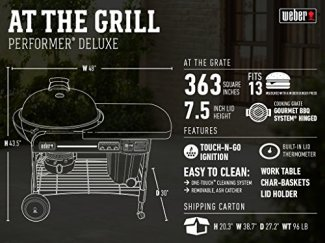 Weber-15501001-Performer-Deluxe-Charcoal-Grill-22-Inch-Black