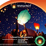 Colored Eco Sky Lanterns (Pack of 5)