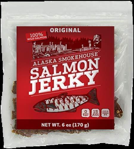 Alaska Smokehouse Smoked Salmon Jerky, 6-Ounce Bag