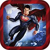 Superman Party Supplies - Superman Cake Plates - 8 Count