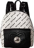 Betsey Johnson Women's Heart Lock Backpack Black/White One Size
