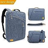 WIWU 15.6 Inch Laptop Convertible Backpack, Multi Functional Travel Rucksack Water Resistant Knapsack Work School College Backpacks for men and women, Business Backpack fit 15.6 laptops