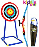 Kiddie Play Toy Archery Set for Kids with Bow and Arrow Target and Quiver