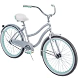Huffy` 24' Cranbrook Girls' Cruiser Bike with Perfect Fit Frame, Silver