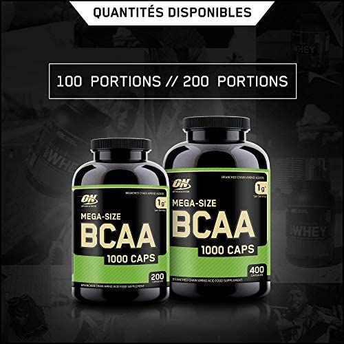 Optimum Nutrition Instantized BCAA Capsules, Keto Friendly Branched Chain Essential Amino Acids, 1000mg, 400 Count 7