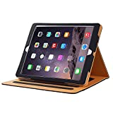 I4UCase Apple iPad 9.7 Inch 2017/2018 (5th/6th Generation) Case - Soft Leather Stand Folio Case Cover for iPad 9.7 Inch 2017, with Multiple Viewing Angles, Auto Sleep/Wake, Document Pocket (Black)
