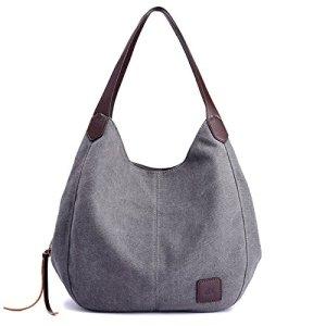 Alyssaa Women s Canvas Shoulder Handbags Ladies Casual Hobo Shopping Bags  Cotton Totes Daily Purses c2dfe8335dba7