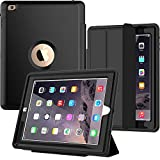 SEYMAC iPad 4th Generation Case, iPad 2 Case Heavy Duty Full Body Rugged Shockproof Drop Protection Case with Trifold Stand Smart Auto Wake/Sleep Cover for iPad 2nd/ 3rd/ 4th Generation (Black)