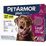 PetArmor Plus for Dogs, Flea and Tick Prevention for Large Dogs (45-88 Pounds), Includes 6 Month Supply of Topical Flea Treatments