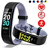 Mgaolo Fitness Tracker HR,Activity Tracker IP68 Waterproof Smart Watch Fit Wristband with Heart Rate Blood Pressure Sleep Monitor Pedometer Calorie Step Counter for Android and iPhone (Gray)