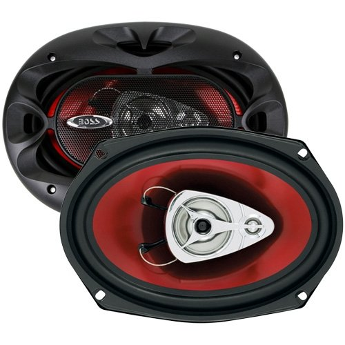 1. BOSS AUDIO CH6930 Chaos Exxtreme 6″ x 9″ 3-way 400-watt Full Range Speakers