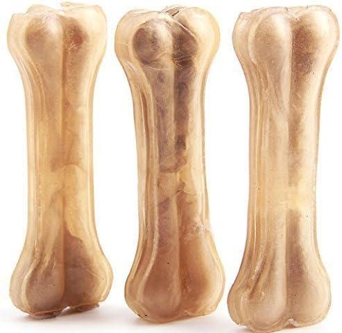 12 Pcs Hueso Prensado para Perros Piel Vacuno Fortalecedor de Dientes Stick Dental Dog Snack 14 cm (12 Pcs) BPS-5000 * 12