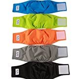 JoyDaog Reusable Belly Bands for Dogs,(5 Pack) Premium Washable Dog Diapers Male Puppy Nappies Wrap,XS