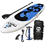 SUP NIXY Inflatable Stand Up Paddle Board for Beginners and Yoga. Ultra Light 10'6' Venice Paddle Board Built with Advanced Fusion Laminated Dropstitch Technology (Blue)