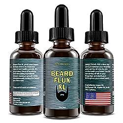Beard Flux XL | Caffeine Beard Growth Stimulating Oil for Facial Hair Grow | Fuel Healthy Growth | Fragrance Free Beard Oil  Image 1