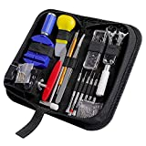 Watch Repair Kit CREMAX 147 PCS Watch Repair Tools for Battery Replacement Band Tool Link Pin Remover with Carrying Case
