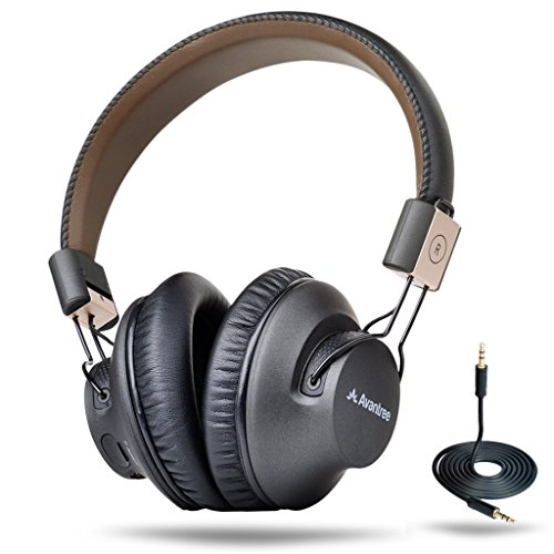 Avantree 40 hr APTX LOW LATENCY Wireless Headphones for TV Watching, Comfortable Bluetooth Over Ear Foldable Headset with Mic, HiFi Music for PC Computer Phone, with NFC, Wired mode - Audition Pro