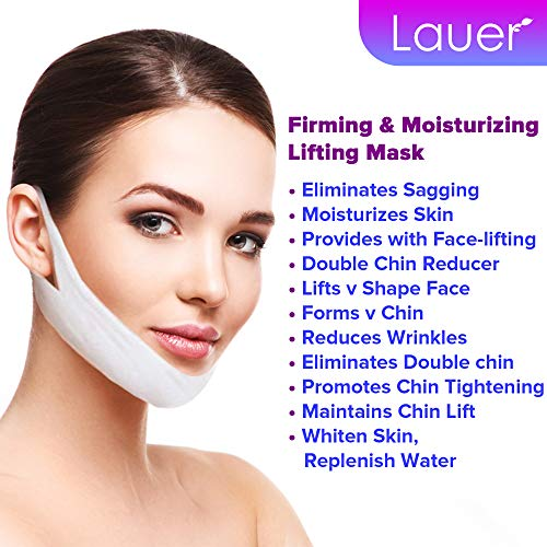 V Shaped Slimming Face Mask Double Chin Reducer V Line Lifting Mask Neck Lift Tape Face Slimmer Patch For Firming and Tightening Skin 8