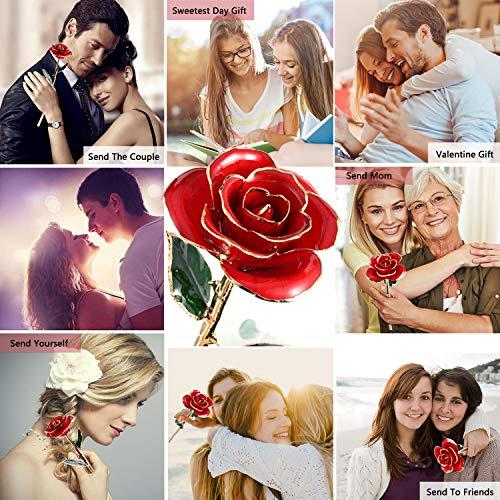 Gomyhom Rosa PRO, Rosa Eterna Placcata con Oro 24K Fiore Reale, Raccogli Le Rose Mature e Strutturate, Regali per San…