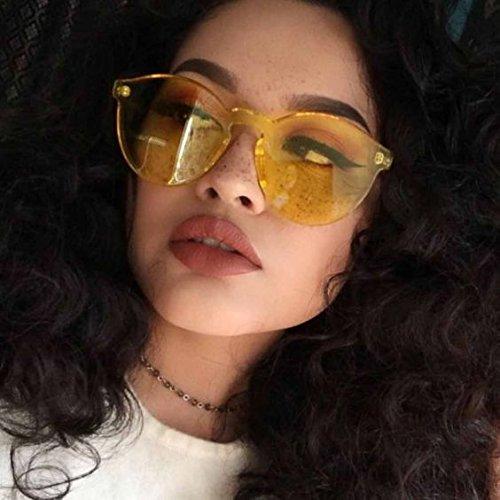 1fd6e1300e3 WearMe Pro – Colorful One Piece Transparent Round Super Retro Sunglasses.  June 1